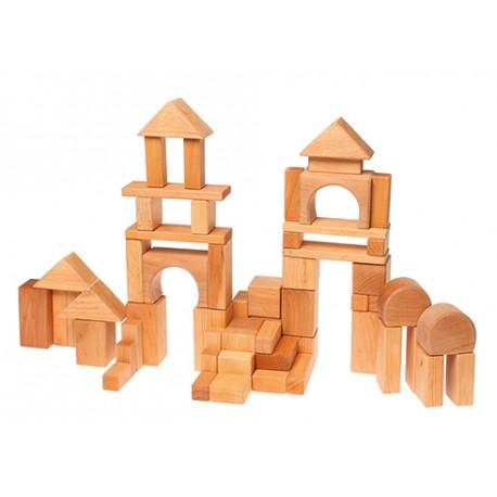 30 Holz-Bauklötze natur