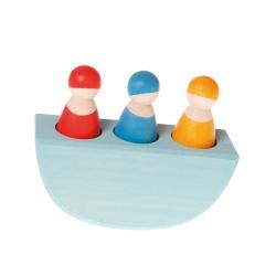 3 Männer im Boot, bunt