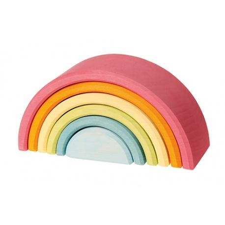 Holz-Regenbogen pastell klein